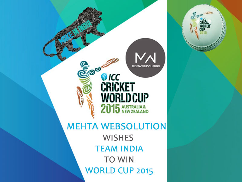 We Wishes Team India to Win ICC Would Cup 2015 | 14 Feb 2015 | Web Designing in Jamnagar | Web Design in Jamnagar | Mehta Websolution